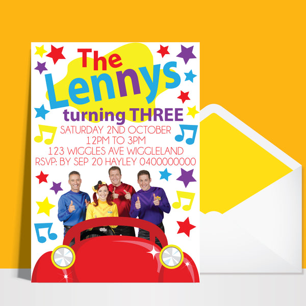 The Wiggles Birthday Invitation Affordabledigitals
