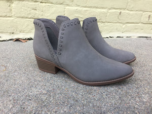 Grey Cutout Booties
