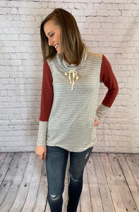 Mara Cowl Neck Top
