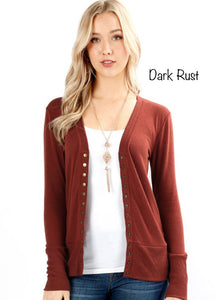 Dark Rust Gabi Cardigan