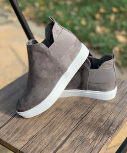 Grey Wedge Sneaker