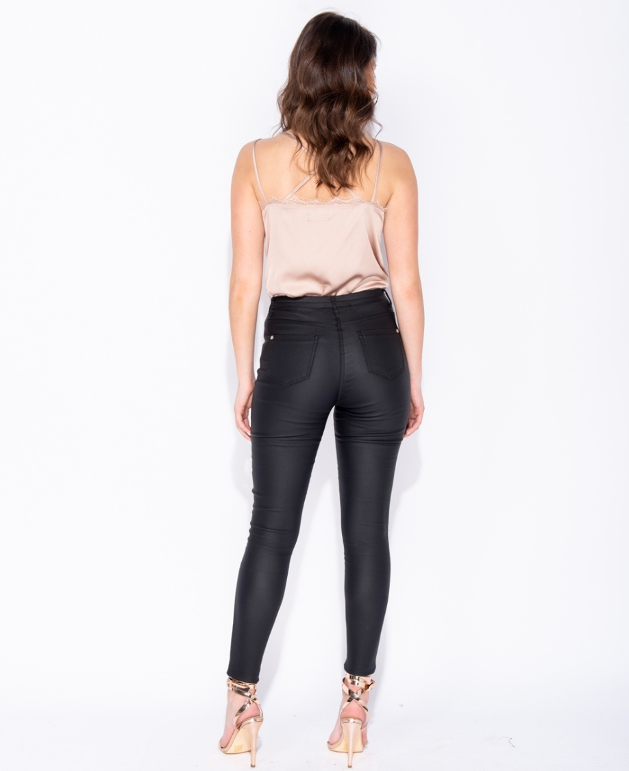 Faux Leather High Waist Pants (4339573391448)
