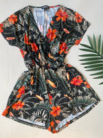 Let's Vacay Floral Romper