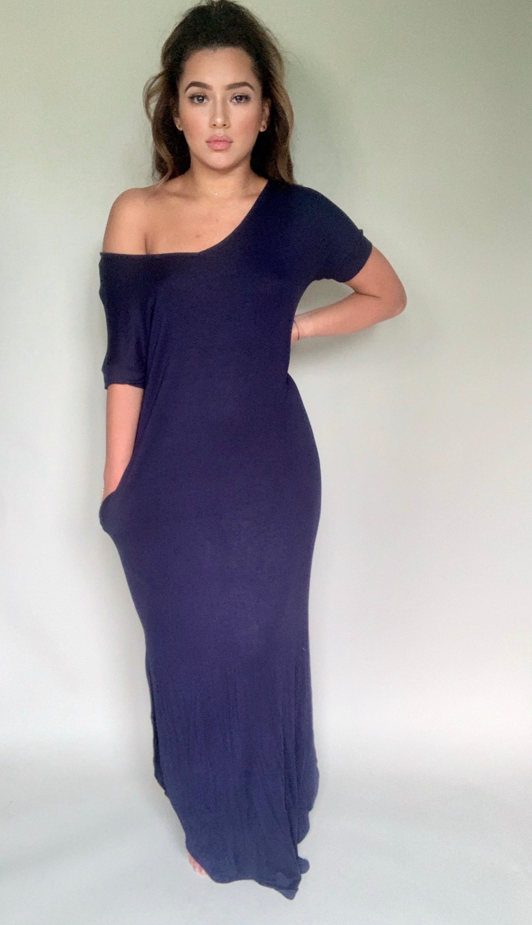 Take Me Away Maxi Dress - Navy