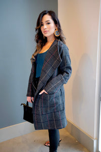 Level Up Plaid Blazer