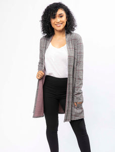 Plaid to Meet You Cardigan (2838647373924)