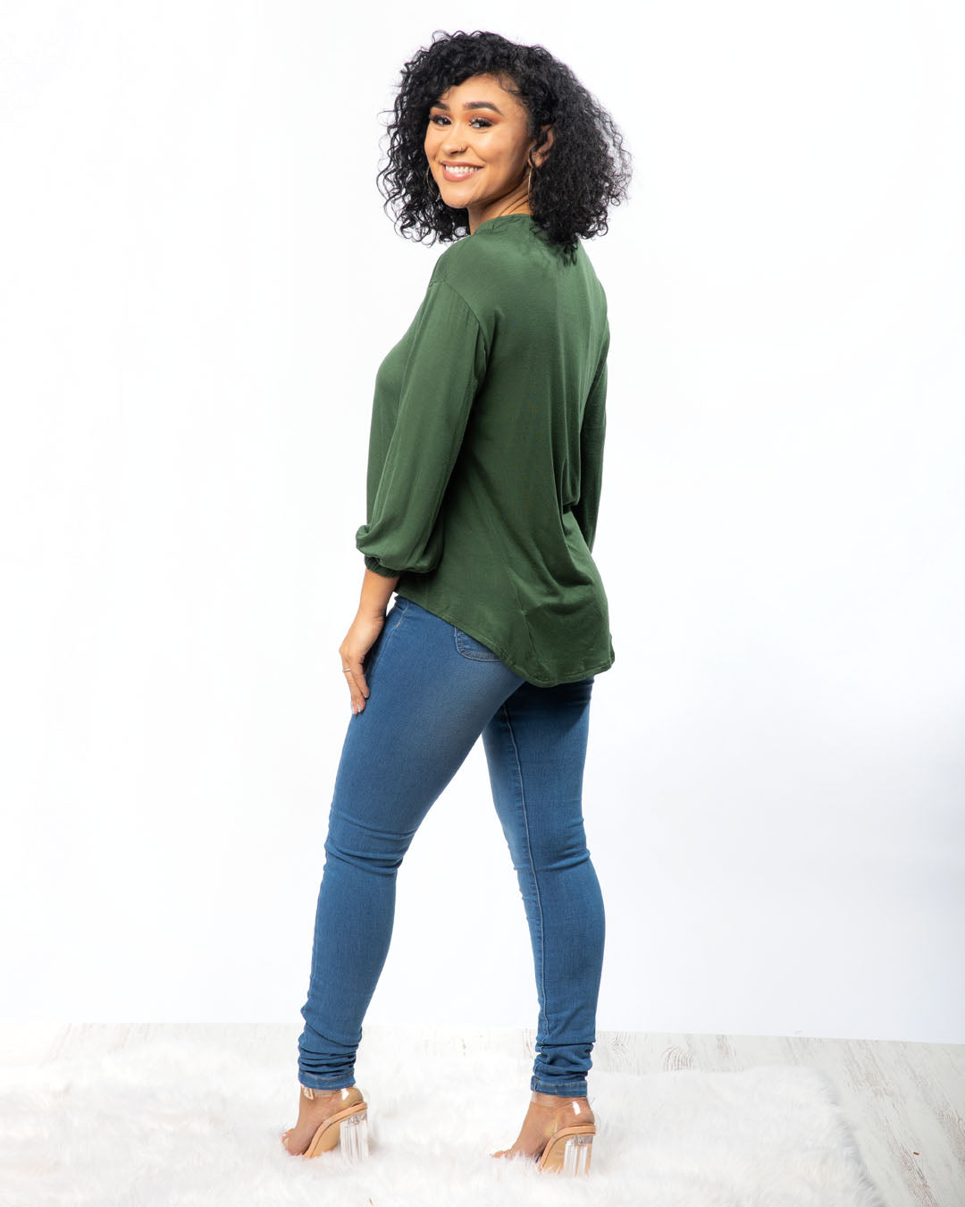 Casual Chic Green Top (2943483183204)