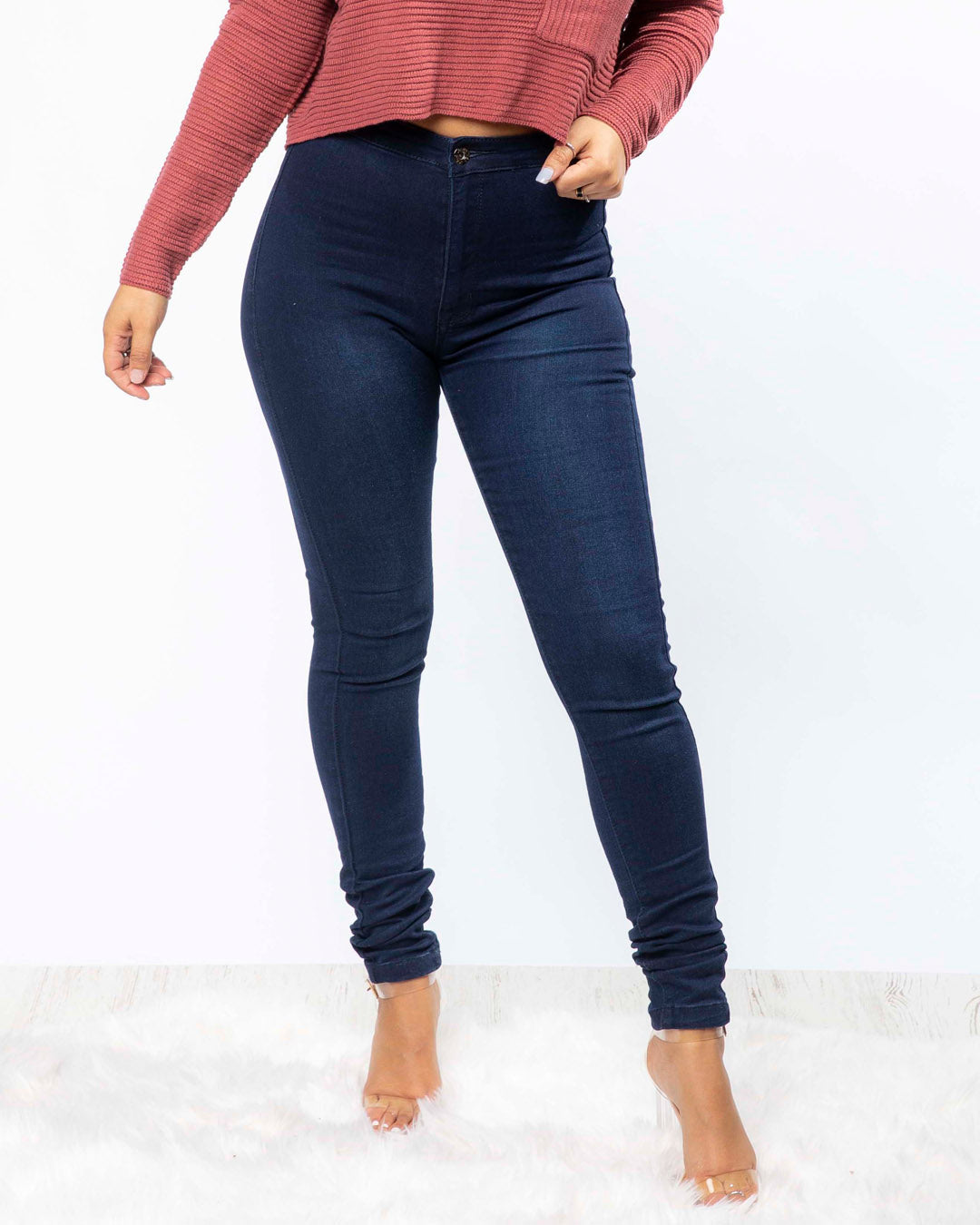Basic High Waist Skinny Jeans (2744924078180)