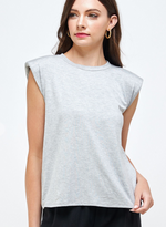 80's Baby Shoulder Pad Tee - Grey