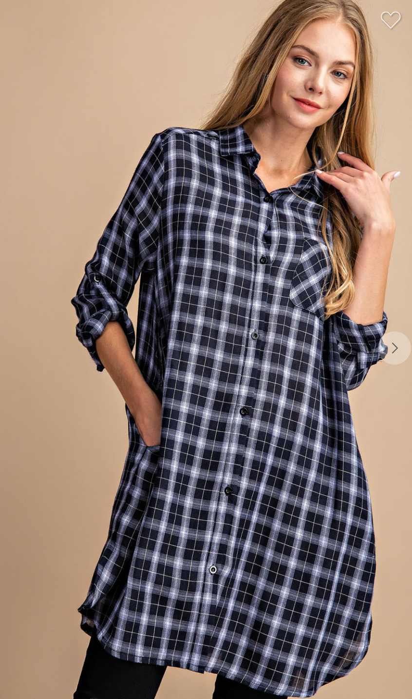 Plaid and Simple Button-Down Shirt