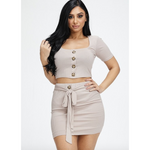 Cute as a Button Mini Skirt Set (3586720202852)