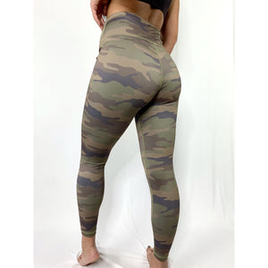 High Rise Camouflage Leggings (4276689862756)