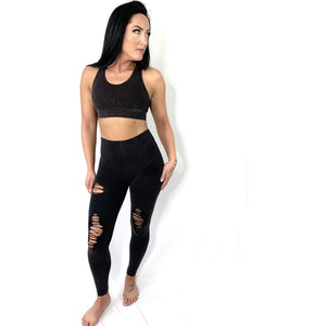 High Rise Coffee Brown Leggings (4286993629284)