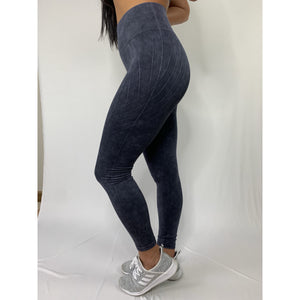 High Rise Stoned Wash Seamless Leggings (4287002968164)