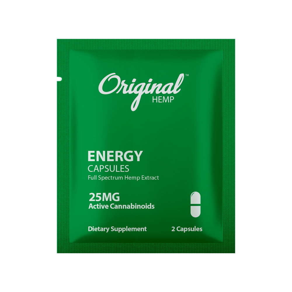 Original Hemp Energy Capsules (25mg) | Daily Dose + Young Ideas CBD