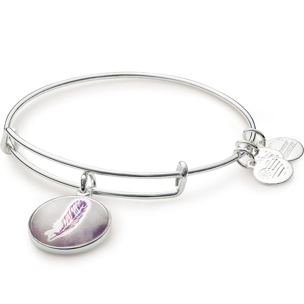 Pulsera Pluma acabado plata brillante by Alex and Ani