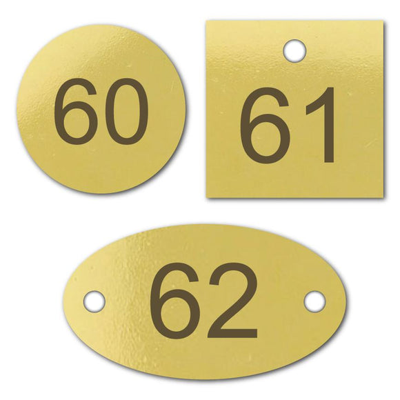 Number Tags – Brass Number Tags
