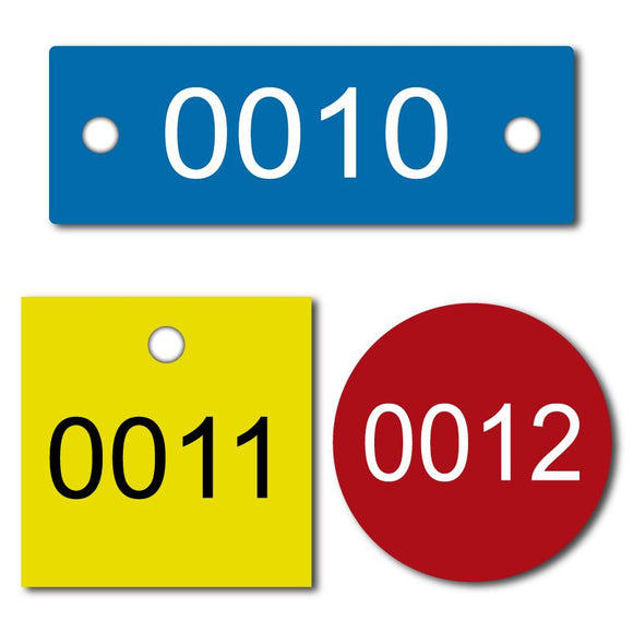 Number Tags – Plastic Number Tags