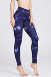 High Waist Galaxy Yoga Leggings
