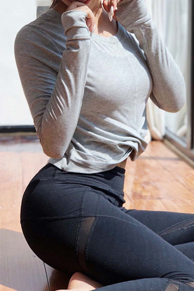 Long Sleeve Wrapped Yoga Crop