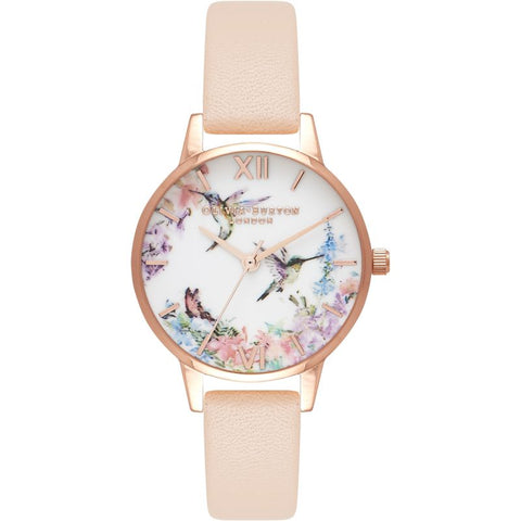 Painterly Prints Nude Peach & Rose Gold Watch