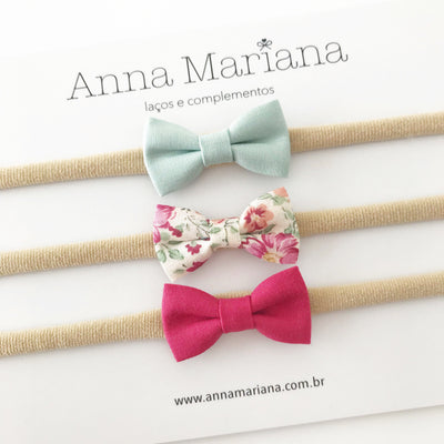 Kit Mariana Baby - Verde, floral e pink