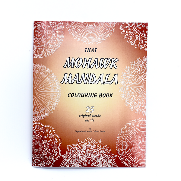 That Mohawk Mandala colouring book