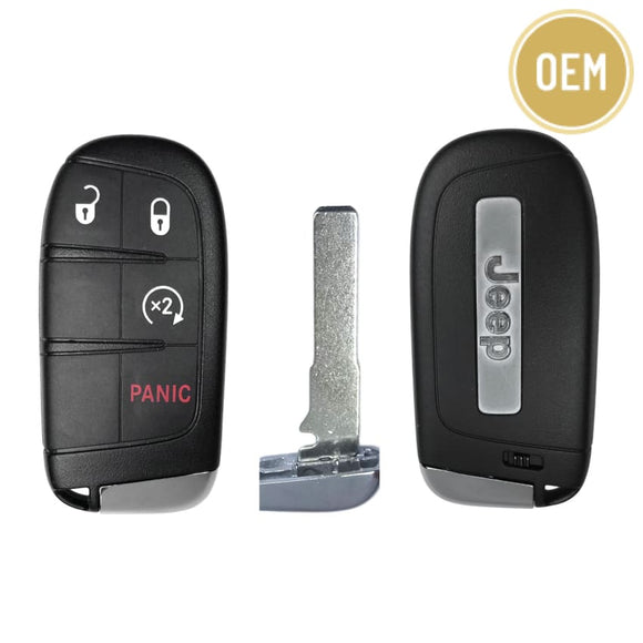 Jeep Renegade 4 Btn Smart Key 2015-2018 FCC: M3N-40821302 PN: 735636994 (OEM)
