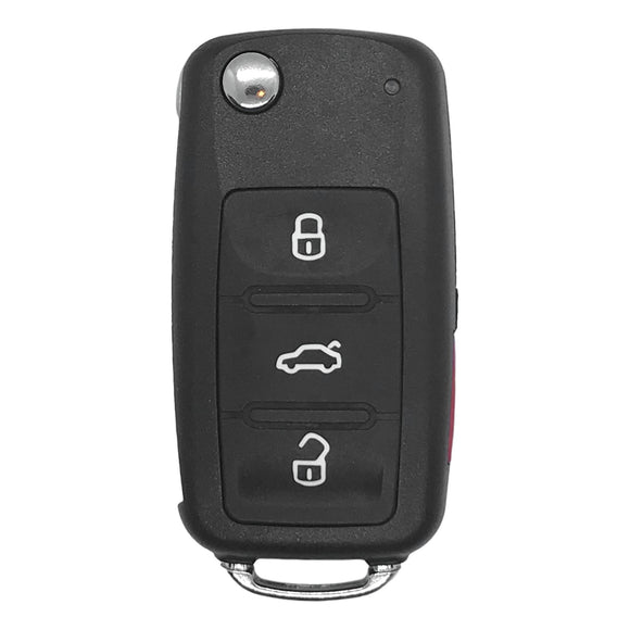 Volkswagen 4 Button Flip Key Remote NBGFS93N