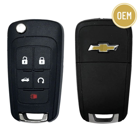 Chevrolet 5 Button Flip Key Remote 2010-2019 OHT01060512 (OEM)