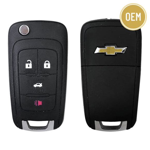 Chevrolet 4 Button Flip Key Remote 2010-2019 OHT01060512 (OEM)