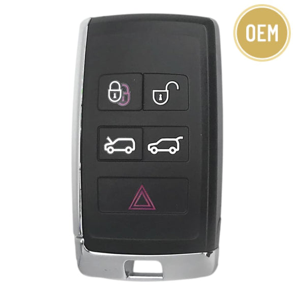 Jaguar 2018-2020 5 Button Smart Key KOBJXF18A Hood + Hatch (OEM)