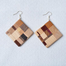 Load image into Gallery viewer, Laminated earrings - Mix of natural woods