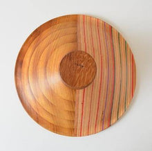 Load image into Gallery viewer, Laminated bowl made from iroko and upcycled skateboards
