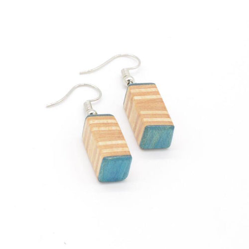 Recycled skateboard earrings - El Arce Imaginario