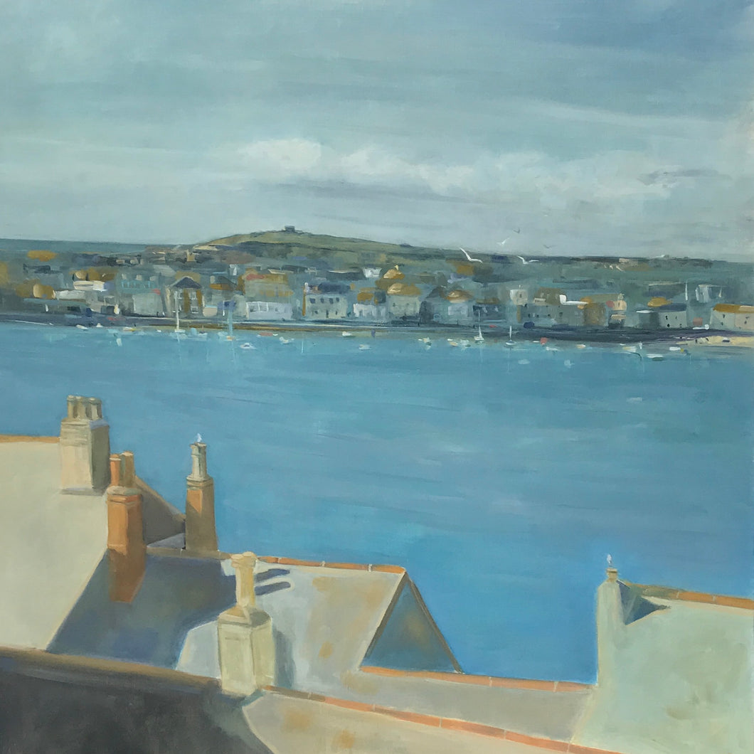 St Ives over the rooftops
