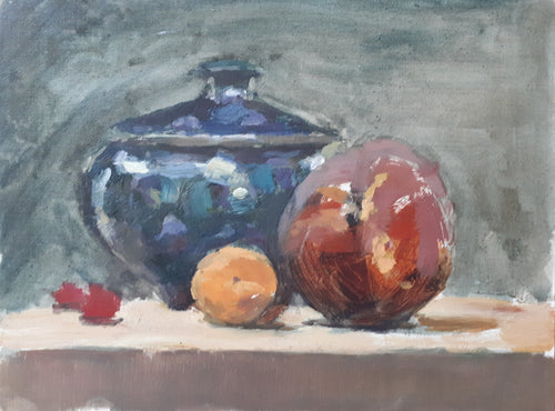 Fruit with blue pot