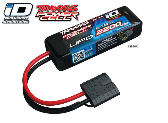 Traxxas  2200mAh 7.4V 2-Cell 25C LiPo Battery TRA2820X  for 1/16th scale cars