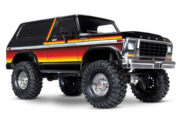 Traxxas TRX-4 1979 Ford Broncho Body, 4wd Crawler 1/10 Scale Electric Truck RTR