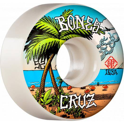 BONES PRO STF SKATEBOARD WHEELS CRUZ BUENA VIDA 52MM V2 LOCKS 103A 4PK