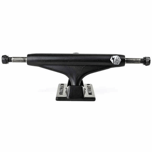 "7.75"" Industrial IV 5.0 Trucks - Black/Black White Logo"