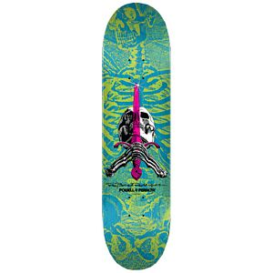 Powell Peralta Skull & Sword Blue/Green Deck 8.25