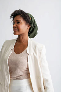 Grace Eleyae Olive Adjustable Slap - Satin Lined Cap - Product Junkie DC