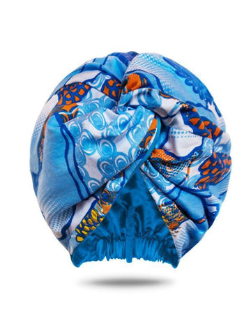Loza Tam Nandi Dutch Wax Satin Lined Turban - Product Junkie DC