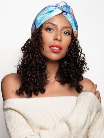 Loza Tam Jess Satin Lined Head Wrap - Product Junkie DC