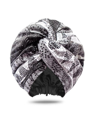 Loza Tam Amina Dutch Wax Satin Lined Turban - Product Junkie DC
