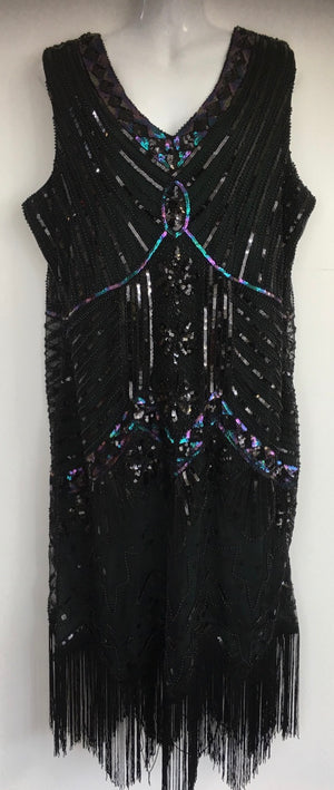 COSTUME RENTAL - J1 1920's Great Gatsby Dress green