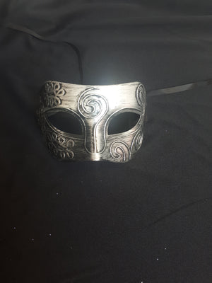 MASK:  Silver fancy eye mask