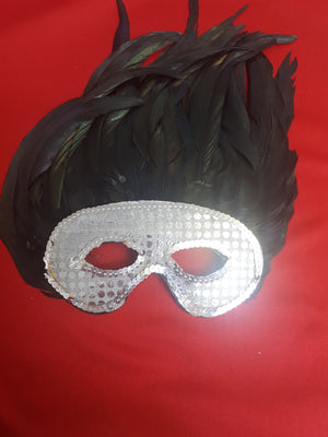 MASK: eyemasks  feather and sequin