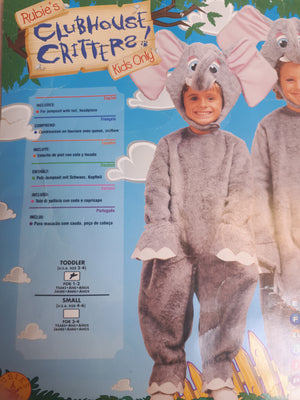 KIDS COSTUME: Plush Elephant  age 2-4